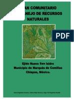 Plan Comunitario de Recursos Naturales