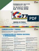 Manual Prensa Cumbre G77 Bolivia
