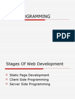 Intro Web Programming