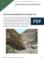 Reconocimiento Geológico de Yura, Arequipa – Perú _ Explorock_ Blog de Las Geociencias y Exploración