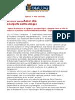 com0260, 230705 Gobernador anuncia plan emergente contra el dengue.
