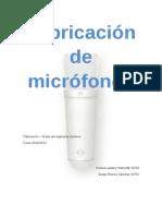 Fabricación de Micrófonos