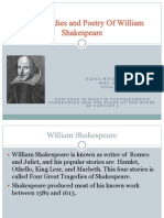 the tragedies and poetry of william shakespeare