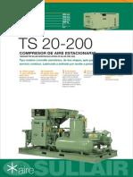 Ficha Técnica Compresor de Aire Sullair TS 20 200