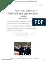 Alemania y China Contruyen La Nueva Ruta de La Seda a Través de Rusia, Por Alfredo Jalife-Rahme