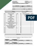 Formato Control de Reactivos Materiales y Equipos