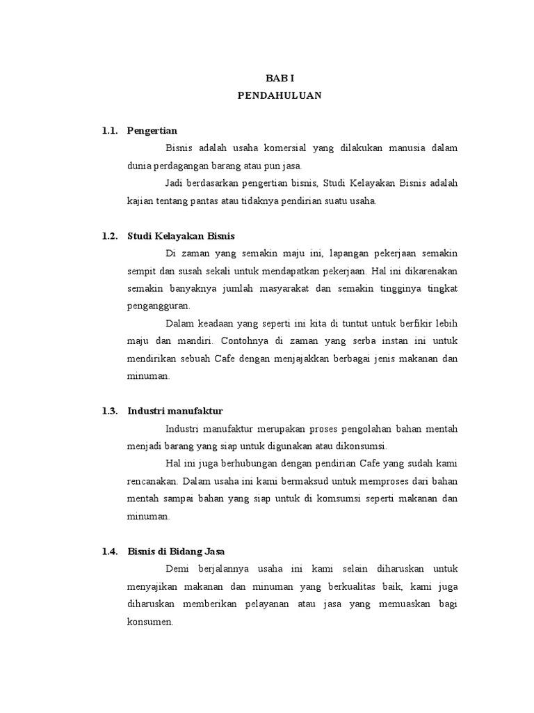 Proposal Studi Kelayakan Bisnis Cafe 2