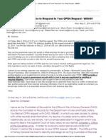 OPRA Request - W86481
