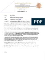 Alameda County Sheriff May 21, 2014 Detainer Memorandum