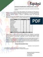 DECLARACIÓN EXCLUSIVIDAD UNIVERSITARIA CARRERAS DE LA SALUD