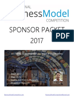 International Business Model Competition - Sponsor Packet