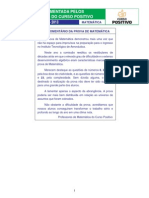 Prova Matematica - Ita 2013
