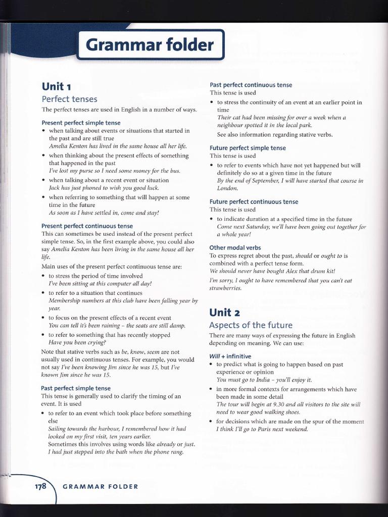 Respuestas objective proficiency perfect grammar grammatical tense fandeluxe Images
