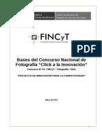 """Bases del Concurso Nacional de Fotografía """"Click a la Innovación"""""""
