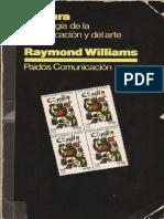 WILLIAMS, Raymond - Cultura. Sociología de La Comunicación y Del Arte