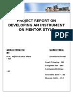 HRD Instrument on mentoring