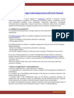 Granting for Foreign Contracting Licences (FCL) in Vietnam