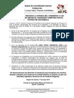 Pueblo Ixil Rechaza La Ofensa Del Congreso y Los Diputados Que Niegan El Genocidio (1)