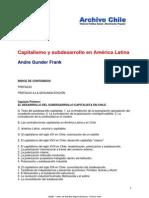 Gunder Frank - Capitalismo y Desarrollo en América Latina