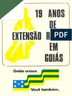 19 Anos de Extensão Rural Em Goiás