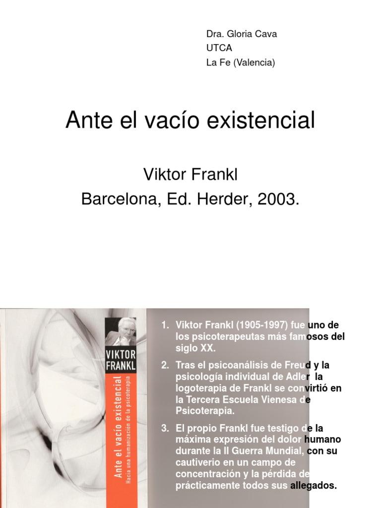 Ante El Vacio Existencial Viktor Frankl Download
