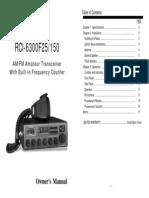 Ranger RCI6300 f25150 CB-tranciever Manual
