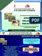 Educacion Para El Trabajo Enfoque Del Area