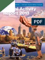 Monash Sustainability Institute - Annual Activity Report 2013