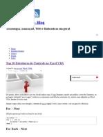 Top 10 Estruturas de Controle No Excel VBA _ Tomás Vásquez - Blog