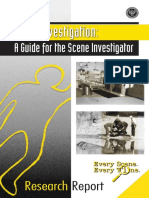 Death Investigation, a guide for the scene investigator