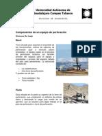 Componentes Taladro de Perforacion y Workover