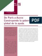 De Paris a ACCRA Construyendo La Gobernanza Global de La Ayuda