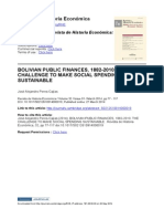 Peres-Cajias - Bolivian Public Finances, 1882-2010. the Challenge to Make Social Spending Sustainable