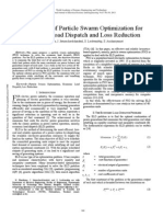 Application of Particle Swarm Optimization for Economic Load Dispatch and Loss Reduction