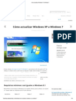 Cómo Actualizar Windows XP a Windows 7