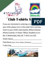 MPact Club Shirt Order Form