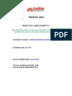 7801EDN - Constantinos Koudounas - 2877597 - Assignment 1