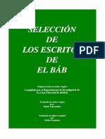 Seleccion de Los Escritos de El Bab