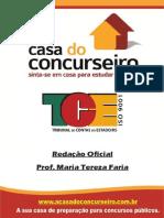 Apostila TCE Redação Oficial Maria Tereza