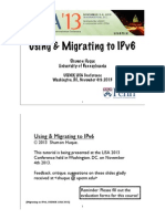 2013 11 Ipv6 Tutorial Huque