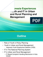 Indonesia Experiences  Youth and IT in Urban and Rural Planning and Management