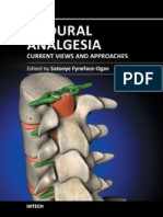 Analgesia Epidural Current Views and Approaches