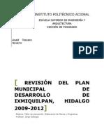6. Revisión Del Plan Municipal de Desarrollo de Ixmiquilpan