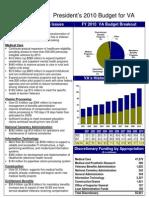 President's 2010 Budget for VA