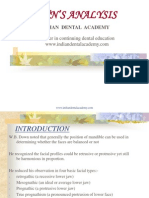 DOWN's Analysis / orthodontic courses by Indian dental academy