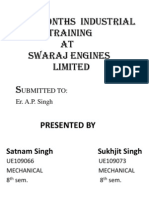 Swaraj Engines Ltd ppt 2014 by Satnam Singh