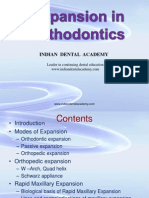 Expansion in Orthodontics, M.M.varadharaj / orthodontic courses by Indian dental academy
