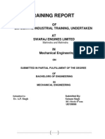 Swaraj Engines Ltd. Training Report  by Satnam Singh