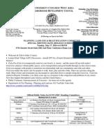 ECWANDC Public Land Use & Beautification Committee Meeting - May 27, 2014