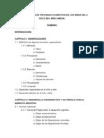 Desarrollo de Los Procesos Cognitivos en Los Niños Del II Ciclo Del Nivel Inicial